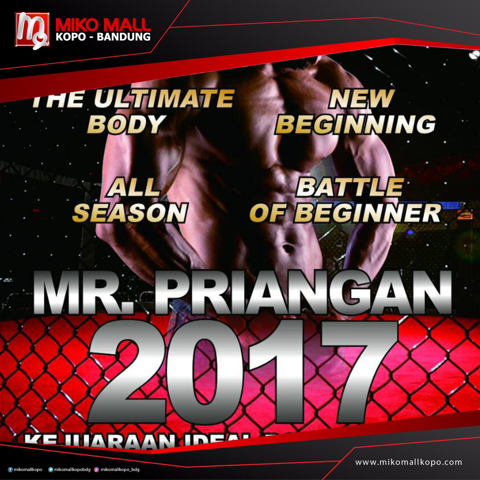 IDEAL BODY CONTEST – MISTER PRIANGAN